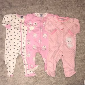 Other - Lot of three baby girl footies